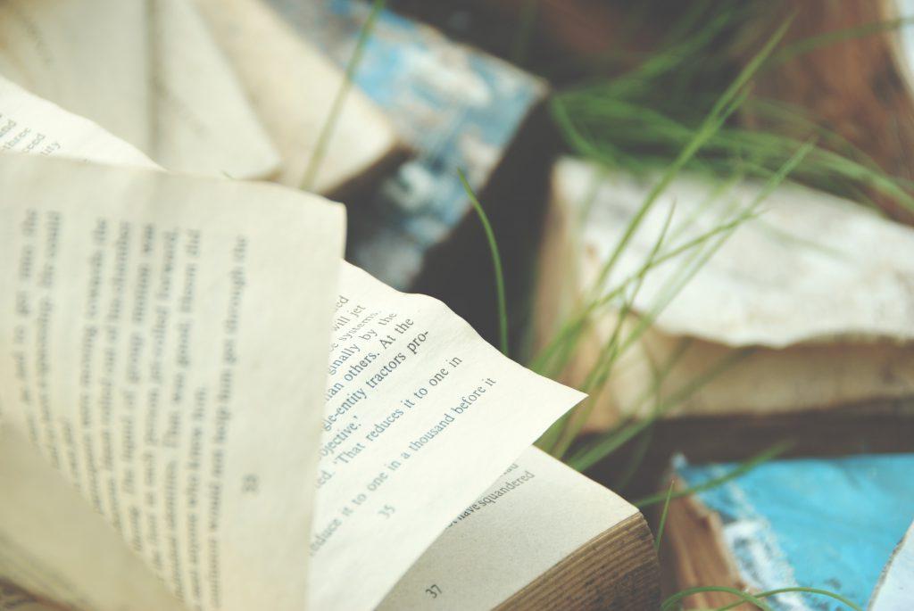 Close-up of an open book